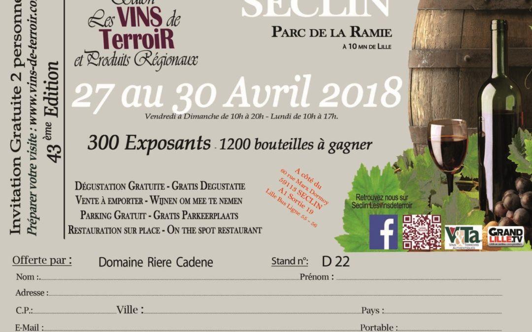 Salon des vins de Seclin, à 10mn de Lille