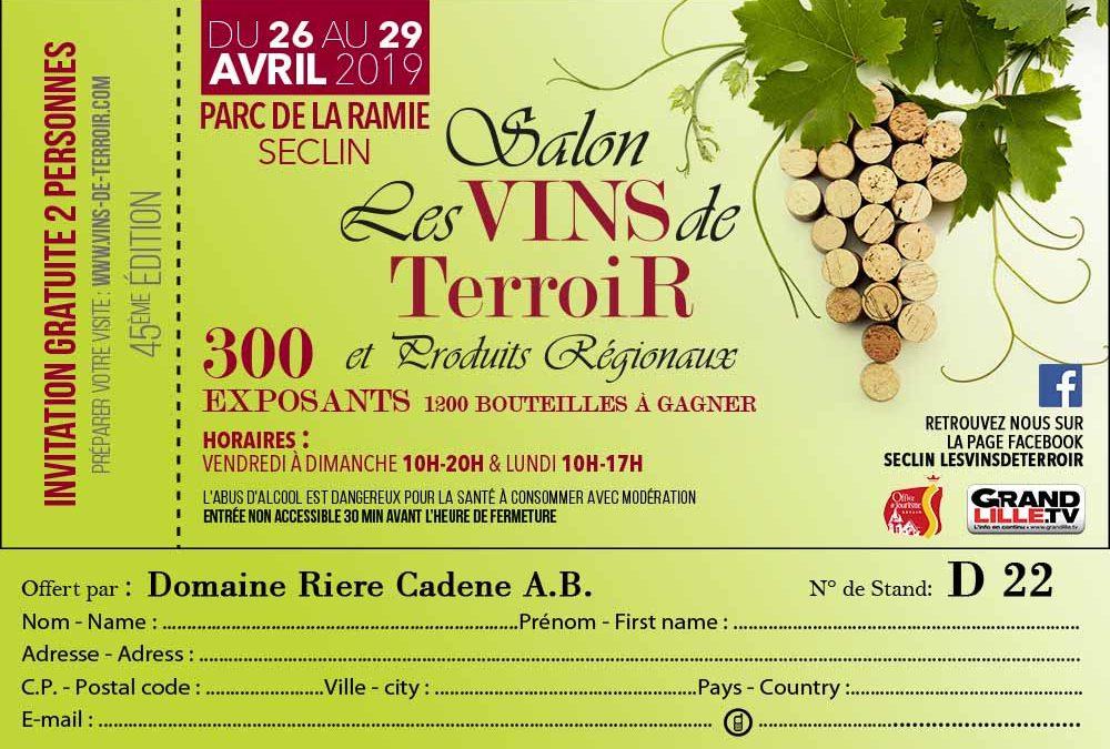 Salon Les vins de Terroir à Seclin (à 10mn de Lille)